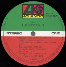 Led Zeppelin III, Atlantic japan, LP