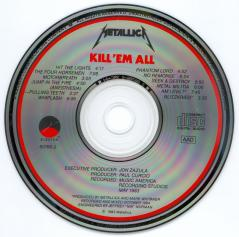Metallica Kill'Em All, Elektra usa, CD