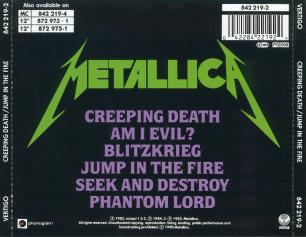 Metallica Creeping Death/Jump In The Fire, Vertigo france, CD