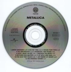 Metallica Metallica, Vertigo/Universal europe, CD Misprint