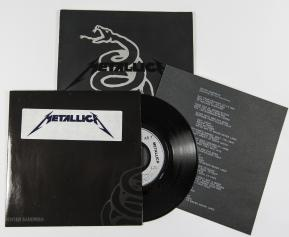 "Metallica Enter Sandman, Vertigo/Phonogram france, 7"" Promo"
