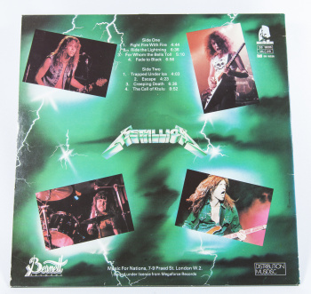 Metallica Ride The Lightning, Bernett france, LP Misprint