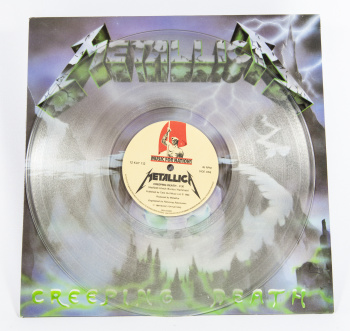 "Metallica Creeping Death, Music For Nations france, 12"" clear"