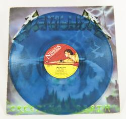 "Metallica Creeping Death, Music For Nations united kingdom, 12"" clear light blue Mislabel"
