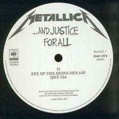 Metallica ...And Justice For All, CBS/Sony japan, LP